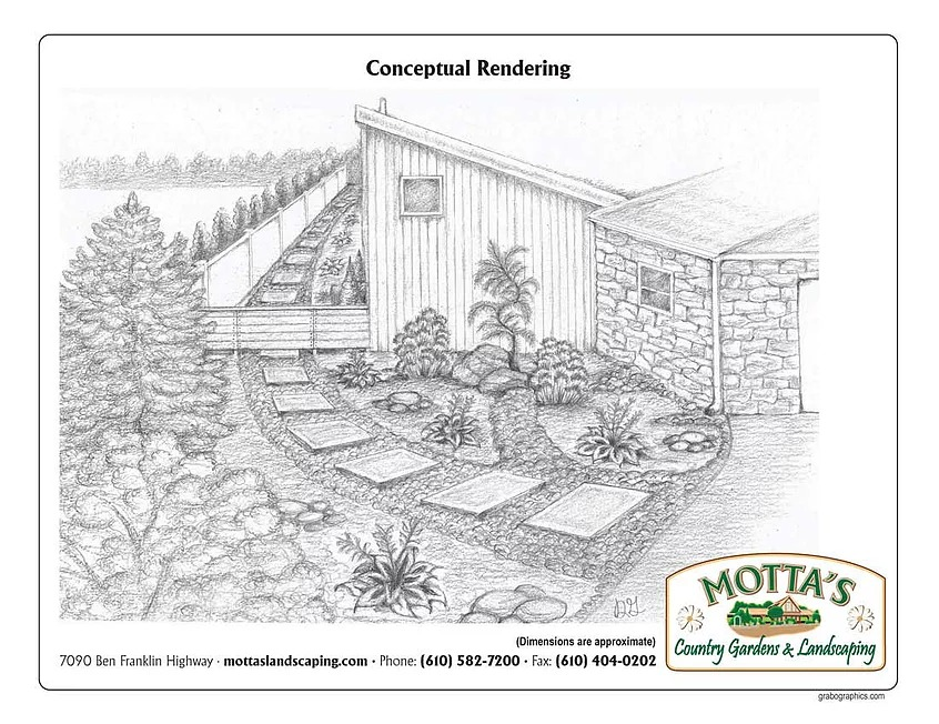 drawing of a backyard concept