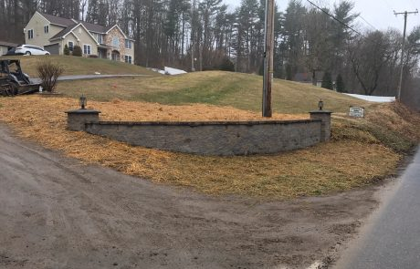 hardscaped retaining walls