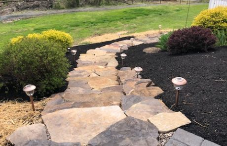 natural stones staircase